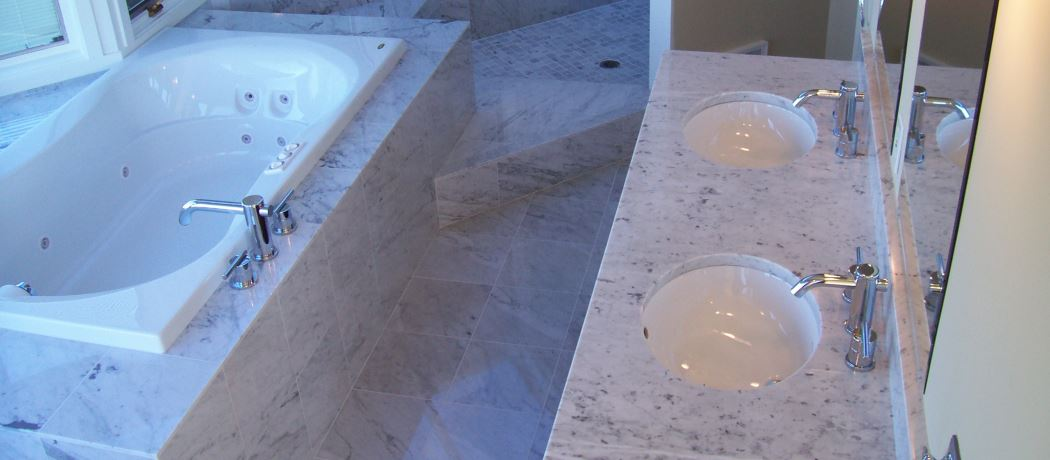 White Carrara Master Bath